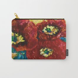 Three Poppies by Lena Owens @OLena Art #Society6 Carry-All Pouch
