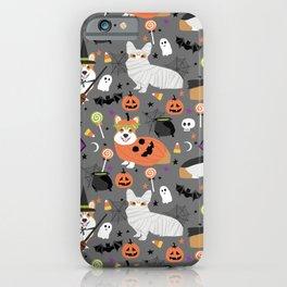 Corgi halloween costume ghost mummy vampire howl-o-ween dog gifts iPhone Case
