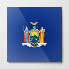 flag state of new york,america,usa,Empire State,big apple,New Yorker,Albany,Broadway,Manhattan,Bronx Metal Print