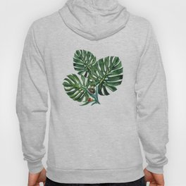Monstera leaf with snails Hoody