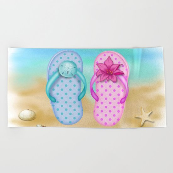 Beach & summer slippers  Beach Towel