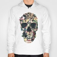 motivation Hoodies featuring Vintage Skull by Ali GULEC