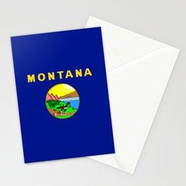 Montana flag Stationery Cards