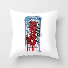 Coors Light Throw Pillow