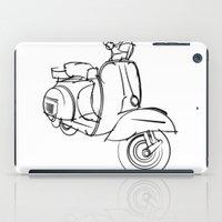 vespa iPad Cases featuring Vespa by tuditees