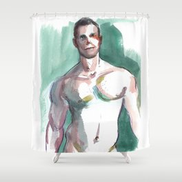 BRANDON, Semi-Nude Male by Frank-Joseph Shower Curtain