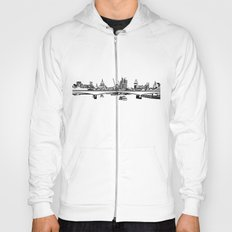 London Black and White Hoody