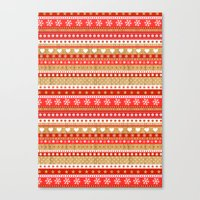 nordic Canvas Prints featuring Nordic Stripe by Faye Maguire Designs