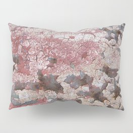 Cracking Paint and Rust Abstract Pillow Sham
