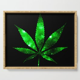 Weed : High Times green Galaxy Serving Tray