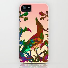 Color hoopoe iPhone Case