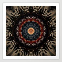 Vintage Bronze Mandala Kunstdrucke