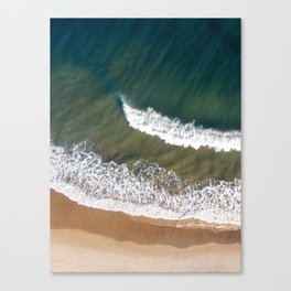 Breaking Waves - Aerial Drone Photography Canvas Print