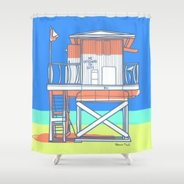 No Lifeguard on Duty 2 Shower Curtain