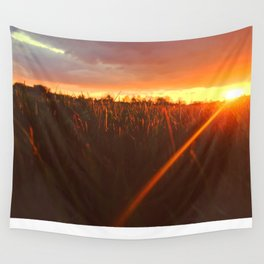Sunset atop of the Hill Wall Tapestry
