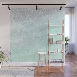 Organic Celestial Geometry on concrete and mint Wall Mural