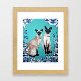 Siamese Cats Framed Art Print