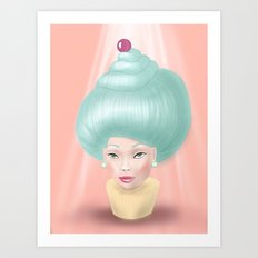 Miss Cupcake Art Print