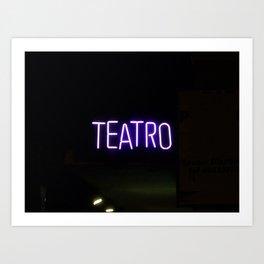 Theater Sign at Night Art Print