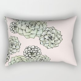 Rosette Succulents Rectangular Pillow