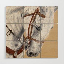 Horse Portrait 01 Wood Wall Art
