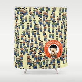 Where's Wong? Shower Curtain