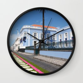 Palace in Azores Wall Clock