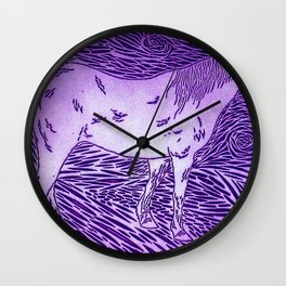 Abstract Silver Wall Clock