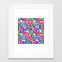 roses Framed Art Prints featuring Roses by Aloke Design