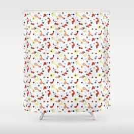 Polyhedral Dice- Pop Modern Shower Curtain
