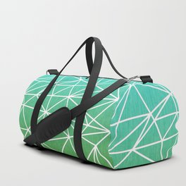 Abstract geometric | green & turquoise Duffle Bag