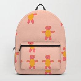 Pink bear print Backpack