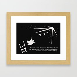 your feet are in the cloister of virgo Framed Art Print