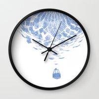 balloon Wall Clocks featuring Balloon  by Gurven