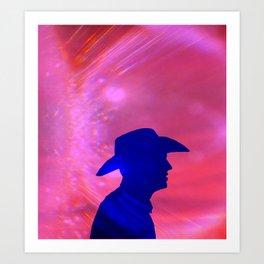 Rama-Rama Cowboy Art Print