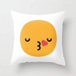 Emojis: Kiss Throw Pillow