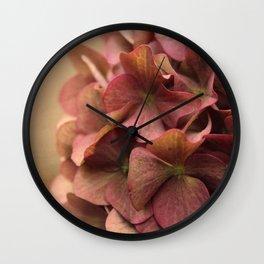 Hydrangea Flowers Wall Clock