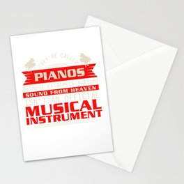 Piano Player Jazz Blues Classical Music Stationery Cards