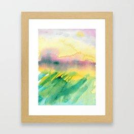 Sunset Fields Framed Art Print
