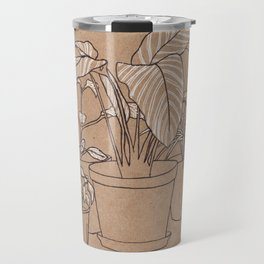 black and white house plants Travel Mug