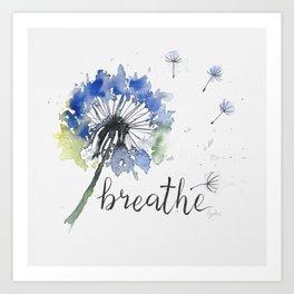 Breathe! Dandelion Floral Botanical Art Art Print