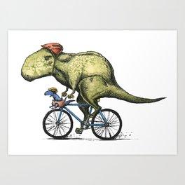 Dino Cycler Art Print