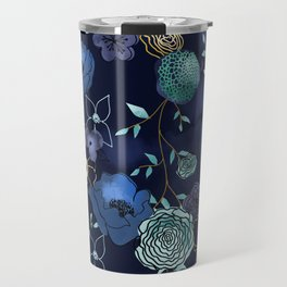 Cindy large floral print Travel Mug