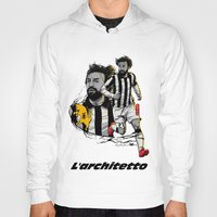 pirlo Hoodies featuring L'architetto Di Torino by Akyanyme