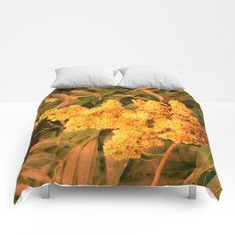 Yellow Sideways Sumac Comforters