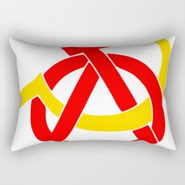 Anarcho-Communist Symbol Soviet USSRColors Rectangular Pillow