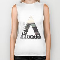 bastille Biker Tanks featuring Bastille - Bad Blood by Thafrayer