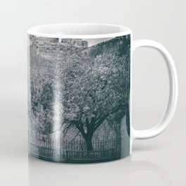 edinburgh castle Scotland vintage style view black and white dirty Coffee Mug