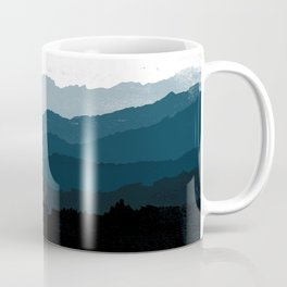 Mists No. 6 - Ombre Blue Ridge Mountains Art Print Coffee Mug