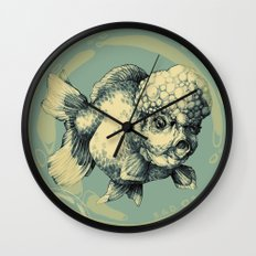 Bubble Head Fish Wall Clock